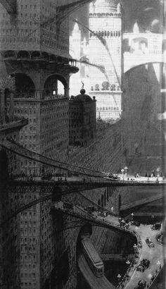 "supermegalopolis: "" William Robinson Leigh, Visionary City, 1908. """