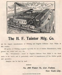 1906 Full Page Illustrated Advertisement for H.F.Taintor Company Factory View