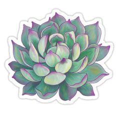 """lápiz de dibujo 9 """"x 11"""" de papel cuaderno de dibujo coloreado en el ordenador """"Planta suculenta"""": https: //en.wikipedia.org/wiki/Succulent_plant • Also buy this artwork on stickers, apparel, phone cases y more."""