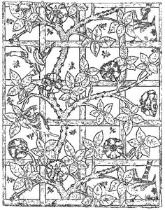 Free Coloring Page William Morris ウィリアム モリスの塗り絵 Art William Morris Colouring Pages