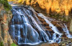 Firehole Falls, Firehole Canyon Drive, Yellowstone National Park, Wyoming