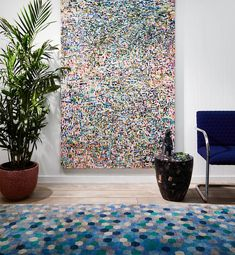 Hyperbloom Handknotted Indian Silk Carpet Living Room Furniture, Modern Furniture, Furniture Design, Tree Stump Side Table, Wood Stumps, Large Artwork, Easy Entertaining, Petrified Wood, A Table