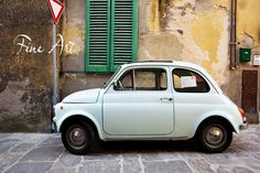 A Fiat 500 in Montepulciano Italy