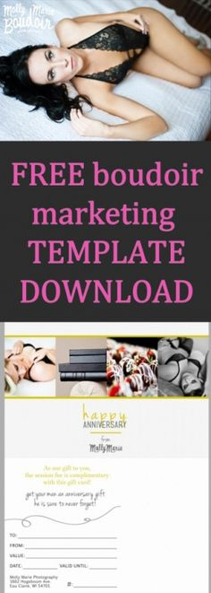 FREE Boudoir Marketing Template DOWNLOAD from boudieshorts.com