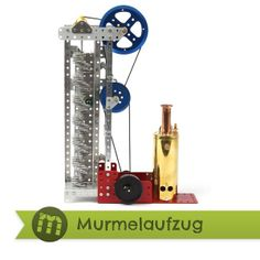 Stokys Murmelaufzug • marble lift • marble run Kugel, Bookends, Marble, Toys, Home Decor, Elevator, Switzerland, Activity Toys, Marbles