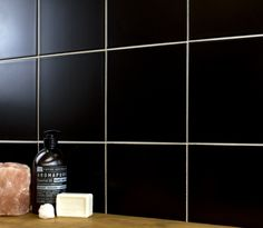 Add a dark luxurious look to your wall spaces with these Matt Black Tiles. Made from ceramic, these square wall tiles have a subtle matt finish. White Wall Tiles, Black Tiles, Wall And Floor Tiles, White Walls, Tiles Price, Floor Patterns, Modular Design, Black And White Design, All Wall