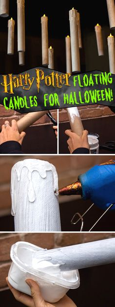 Grab Some Paper Rolls and Transform Them Into Harry Potter Floating Candles for Halloween!
