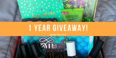 I'm holding a HUGE GIVEAWAY on my Blog! Enter now for a chance to win a box full of prizes!