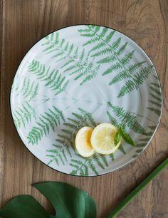 www.roseandgrey.co.uk fern-print-porcelain-serving-plate