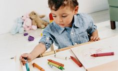 activity: painting(4-51/2 years)  source:  crayons, papers.