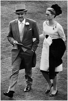 Prince Rainer III and Princess Grace - Royal Ascot 1966-Getty Archive.