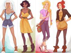 Princesas disney nos dias atuais