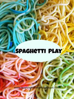 How to colour/color spaghetti to make a great sensory play for babies and toddlers.