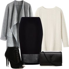 Bez naslova #3582 by ramayanna on Polyvore featuring moda, Toast, Chicwish, River Island, Tabitha Simmons and Yves Saint Laurent