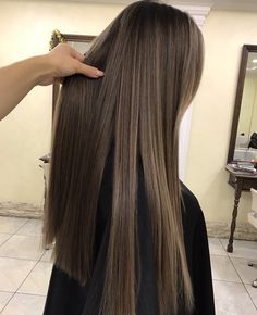 Hair color flamboyage ombre 16 ideas - All About Hairstyles Brown Hair Balayage, Hair Color Balayage, Hair Highlights, Bayalage, Brunette Hair, Blonde Hair, Coffee Brown Hair, Light Brown Hair, Brown Hair Colors