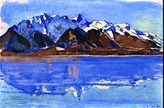 Lake Thun with Stockhorn Mountain Chain Ferdinand Hodler - circa 1913