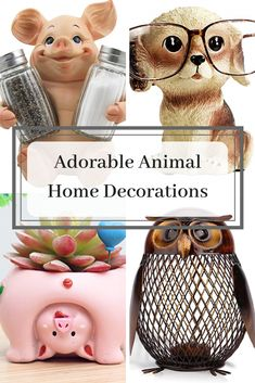 Cute animal figurines make a wonderful accent piece to any home decor. Especially if you add your favorite animal. I have found these adorable animal figurines that will make you smiles. Home Wall Art, Wall Art Decor, Just Because Gifts, Elegant Watches, Cute Home Decor, Spa Gifts, Beautiful Interiors, Home Accents, Cool Gifts
