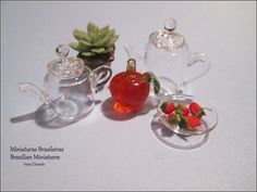 Glass Miniatures  dollshouse   ivanigrande.blogspot.com.br https://www.etsy.com/pt/shop/MiniaturaBrasileira