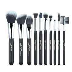 BRUSH-JAF 10 pieces Cosmetic Makeup Brush set Professional Soft Taklon Fiber
