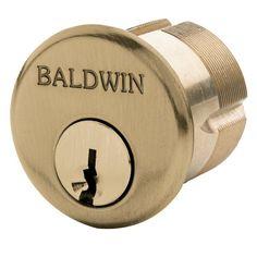 """Baldwin 8324 1-3/8"""" Mortise Cylinder C Keyway"""