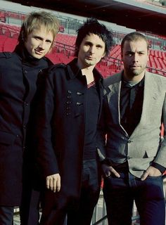 Dom, Matt and Chris #Muse