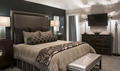 Bedroom Ideas With Black Accent Wall(65).Jpg