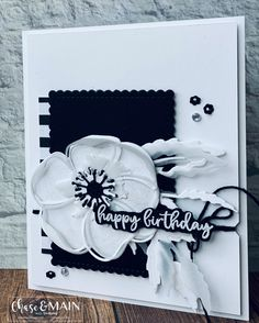Stampin' Up! Handmade Birthday Cards, Greeting Cards Handmade, Poppy Cards, Wink Of Stella, Stamping Up Cards, Card Sketches, Flower Cards, Scrapbook Cards, Homemade Cards