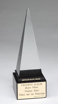 PRINCE AMERICAN MUSIC AWARDS STATUE FOR PURPLE RAIN - Current price: $4000