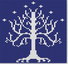Tricksy Knitter Charts: tree of gondor