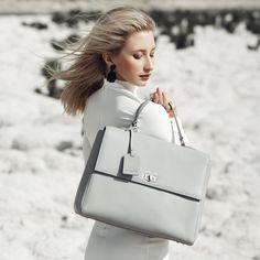Image of Mariarosa Large Tote - Grey PRE ORDER Large Tote, All Things, Australia, Shoulder Bag, Grey, Bags, Gray, Handbags, Shoulder Bags