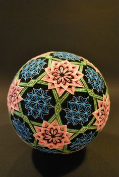 Temari Ball made by NanaAkua's Grandmother - photo by NanaAkua (via Flickr)