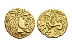 Gold Stater of the Parisii Celts of Central Gaul, Mint A, c. 100-57 BC - From the collection of the Money Museum of Zürich.