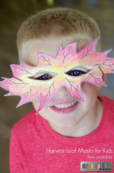 Harvest Leaf Masks for Kids - Fall and Autumn Crafts for the Classroom or Home - Halloween Craft