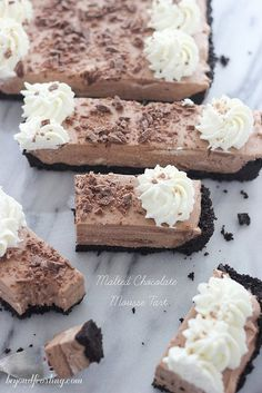 Malted Chocolate Mousse Tart | beyondfrosting.com | #mousse