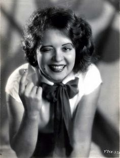 """""""We had individuality. We did as we pleased. We stayed up late. We dressed the way we wanted. I used to whiz down Sunset Boulevard in my open Kissel, with several red Chow dogs to match my hair. Today, they`re sensible and end up with better health. But we had more fun."""" - Clara Bow  #styleicon #modcloth"""
