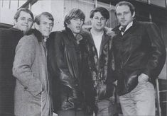 The Beach Boys in Paris Carl Wilson, Dennis Wilson, America Band, Mike Love, 60s Music, The Beach Boys, Black And White Man, Music Is Life, Leather Men