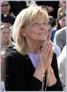 Mirjana during her annual Apparition, 2005- Medjugorje  Messages From Dec.25 1982-Mar.2 2013