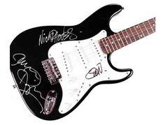 Duran Duran Autographed Simon Roger Nick John Signed Guitar
