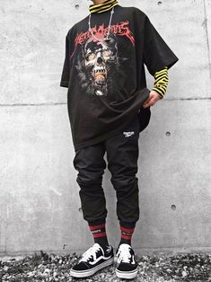*Observe for further Streetwear Collections* - with. Source by rainbowsarebaee Fashion outfits Fashion Mode, Aesthetic Fashion, Aesthetic Clothes, Korean Fashion, Boy Fashion, Street Fashion, Punk Fashion, Fashion Teens, Fashion Vintage
