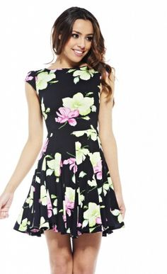 Waterlily Fit and Flair Dress