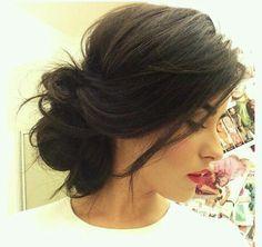 Modern updo hair