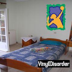 Volleyball Wall Decal - Vinyl Sticker - Car Sticker - Die Cut Sticker - CDSCOLOR055