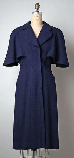 Coat    Designer: Pauline Trigère   Date: spring/summer 1945  Culture: American  Medium: wool  Accession Number: C.I.57.72.3 | The Met