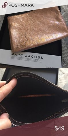 Marc Jacobs clutch Pink metallic New w gift box.Stunning color day into evening roomy and not bulky ! Bags Clutches & Wristlets