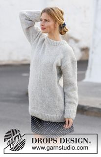 Knitting Stitches, Knitting Patterns Free, Free Knitting, Free Pattern, Drops Design, Diy Pullover, Pullover Sweaters, Garnstudio Drops, Paris Model