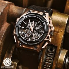 New release Linde Werdelin Spidolite Extreme Skeleton, in Rose Gold.