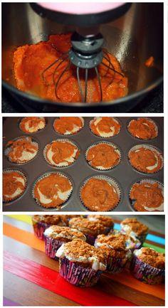 60 Calorie Pumpkin & Cream Muffins!