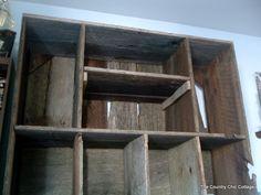 barn wood room divider