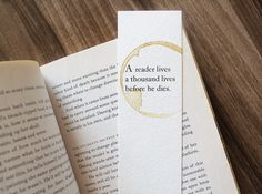 """This bookmark featuring a glorious quote from George R. R. Martin, which is necessary for when you re-read the books over and over again. 