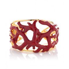 Kenneth Jay Lane Red Coral Cuff